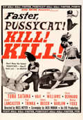 "Movie Posters:Sexploitation, Faster, Pussycat! Kill! Kill! (Eve Productions, 1965). Fine+ on Linen. Trimmed One Sheet (27.25"" X 39.5"") Style B.. ..."