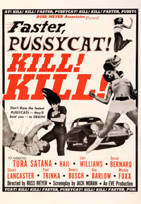 "Faster, Pussycat! Kill! Kill! (Eve Productions, 1965). Fine+ on Linen. Trimmed One Sheet (27.25"" X 39.5"") Styl..."