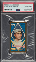 Baseball Cards:Singles (Pre-1930), 1911 T205 Gold Border Home Run Baker PSA NM-MT 8 - Pop Two, None Higher....