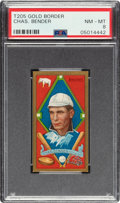 Baseball Cards:Singles (Pre-1930), 1911 T205 Gold Border Chief Bender PSA NM-MT 8 - Pop One, None Higher! ...