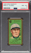 Baseball Cards:Singles (Pre-1930), 1911 T205 Gold Border Fred Clarke PSA NM-MT 8 - Pop Two, None Higher....