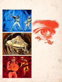 Fantastic Voyage by Boris Grinsson (20th Century Fox, 1967). Fine/Very Fine. Original Mixed Media French Artwork on Illu...