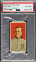 Baseball Cards:Singles (Pre-1930), 1919 T213 Coupon Cigarettes (Type 3) Ty Cobb (Portrait) PSA NM-MT 8 - Pop Two, One Higher. ...