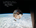 Explorers:Space Exploration, James McDivitt Signed Large Apollo 9 Command Module Gumdrop Color Photo....