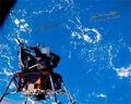 Explorers:Space Exploration, Apollo 9: James McDivitt and Rusty Schweickart Signed Large Lunar Module Color Photo. ...