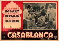 "Casablanca (Warner Bros., 1946). Fine/Very Fine on Linen. First Post-War Release Italian Photobusta (19.25"" X 13.5&..."