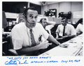 Explorers:Space Exploration, Charlie Duke Signed Photo as Apollo 11 CapCom with Famous Quote. ...
