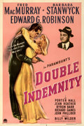 "Movie Posters:Film Noir, Double Indemnity (Paramount, 1944). Very Fine on Linen. One Sheet (27"" X 41"").. ..."