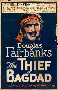 "The Thief of Bagdad (United Artists, 1924). Very Good/Fine. Window Card (13.75"" X 201.25"")"