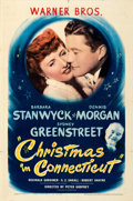 """Movie Posters:Comedy, Christmas in Connecticut (Warner Bros., 1945). Folded, Very Fine-. One Sheet (27"""" X 41""""). From the collection of Leonard a..."""