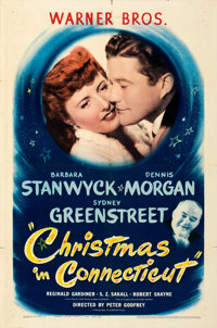 """Christmas in Connecticut (Warner Brothers, 1945). Folded, Very Fine-. One Sheet (27"""" X 41"""")"""