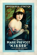 "Movie Posters:Comedy, Kissed (Universal, 1922). Very Fine on Linen. One Sheet (27.5"" X 41"").. ..."