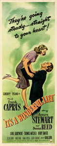 "Movie Posters:Fantasy, It's a Wonderful Life (RKO, 1946). Rolled, Very Fine-. Insert (14"" X 36"").. ..."
