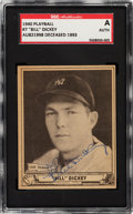 Baseball Cards:Singles (1940-1949), Signed 1940 Play Ball Bill Dickey #7 SGC Authentic....