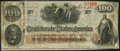 Confederate Notes:1862 Issues, T41 $100 1862 PF-25 Cr. 318A Very Fine.. ...
