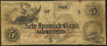 Obsoletes By State:New Hampshire, New Ipswich, NH- New Ipswich Bank Counterfeit $5 Dec. 15, 1863 Very Good-Fine.. ...