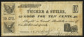Obsoletes By State:New Hampshire, Brookline, NH- Tucker & Stiles 10¢ July 16, 1862 Very Good-Fine.. ...