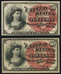 Fr. 1257 10¢ Fourth Issue Choice New; Fr. 1258 10¢ Fourth Issue Choice New. ... (Total: 2 notes)