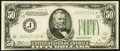 Fr. 2102-J* $50 1934 Federal Reserve Note. Very Fine