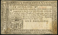 Pennsylvania April 10, 1777 1s Extremely Fine-About New