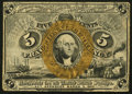 Fractional Currency:Second Issue, Fr. 1232SP 5¢ Second Issue Narrow Margin Face New.. ...