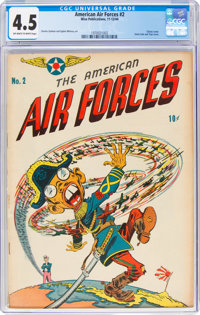 The American Air Forces #2 (Wm. H. Wise & Co., 1944) CGC VG+ 4.5 Off-white to white pages