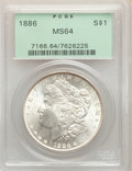 (9)1886 $1 MS64 PCGS. This lot will also include a: 1887 $1 MS64 PCGS