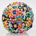 Other:Contemporary, Takashi Murakami (b. 1962). Flower Ball, 2008. Plush. 15 x 15 inches (38.1 x 38.1 cm). Ed. 80/200. Produced by Kaikai Ki...