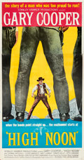 """Movie Posters:Western, High Noon (United Artists, 1952). Very Fine- on Linen. Three Sheet (41.75"""" X 79"""").. ..."""