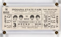 Music Memorabilia:Memorabilia, The Beatles Indiana State Fair Concert Unused Ticket (1964). ...
