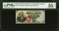 Fr. 1376 50¢ Fourth Issue Stanton PMG About Uncirculated 55 EPQ