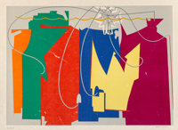 Man Ray (1890-1976) Rope Dancer Accompanies Herself with her Shadows, 1972 Lithograph in colors on J