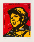 Prints & Multiples, Wang Guangyi (b. 1957). Belief Girl No. 6, 2006. Lithograph in colors on paper. 19-1/2 x 15-3/4 inches (49.5 x 40 cm) (s...