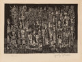 Prints & Multiples, Ynez Johnston (b. 1920). Untitled, c. 1949. Relief print on paper. 8-1/2 x 13 inches (21.6 x 33 cm) (sheet). Ed. 3/12. S...