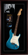 Music Memorabilia:Memorabilia, Carole King Signed Fender Stratocaster Guitar and Signed DVD. ...
