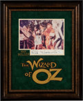 Movie/TV Memorabilia:Autographs and Signed Items, The Wizard of Oz Promo Photo Signed and Inscribed By Ray Bolger. ...