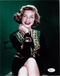 Movie/TV Memorabilia:Autographs and Signed Items, Lauren Bacall Signed Photo. ...