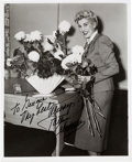 Music Memorabilia:Autographs and Signed Items, Patty Andrews Signed and Inscribed Photo. . ...