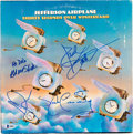 Music Memorabilia:Autographs and Signed Items, Jefferson Airplane Thirty Seconds Over Winterland Vinyl LP Jacket Signed by Four Members of the Band (1973). ...