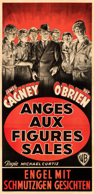 """Angels with Dirty Faces (Warner Bros., c.1939). Fine/Very Fine on Linen. Belgian Three Sheet (32.75"""" X 67.5"""")..."""