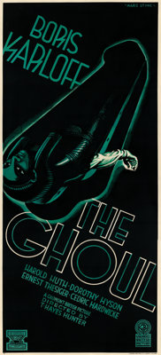 """The Ghoul (Gaumont, 1933). Fine/Very Fine on Linen. British Three Sheet (39.5"""" X 87"""") Style A, Marc Stone Artw..."""