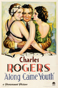 """Movie Posters:Romance, Along Came Youth (Paramount, 1930). Fine- on Linen. One Sheet (27.25"""" X 41"""").. ..."""