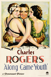"""Along Came Youth (Paramount, 1930). Fine- on Linen. One Sheet (27.25"""" X 41""""). Romance"""