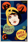 """Movie Posters:Comedy, What a Night! (Paramount, 1928). Very Fine- on Linen. One Sheet (27.5"""" X 41"""").. ..."""