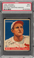 Autographs:Sports Cards, Signed 1933 Goudey Pepper Martin #62 PSA/DNA VG 3 - Authentic Auto....