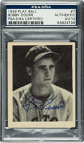 Autographs:Sports Cards, Signed 1939 Play Ball Bobby Doerr #7 PSA/DNA Authentic....