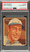 Autographs:Sports Cards, Signed 1933 Goudey Lefty O'Doul #232 PSA/DNA Authentic....