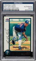 Autographs:Sports Cards, Signed 1998 Bowman Roy Halladay #75 PSA/DNA Authentic....