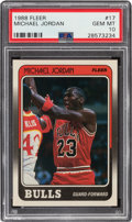 Basketball Cards:Singles (1980-Now), 1988 Fleer Michael Jordan #17 PSA Gem Mint 10....
