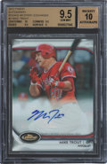 Baseball Cards:Singles (1970-Now), 2012 Topps Finest Mike Trout Rookie Mystery Exchange Autograph #3 BGS Gem Mint 9.5 - 10 Autograph....